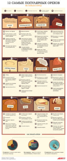 о пользе 12 самых популярных орехов