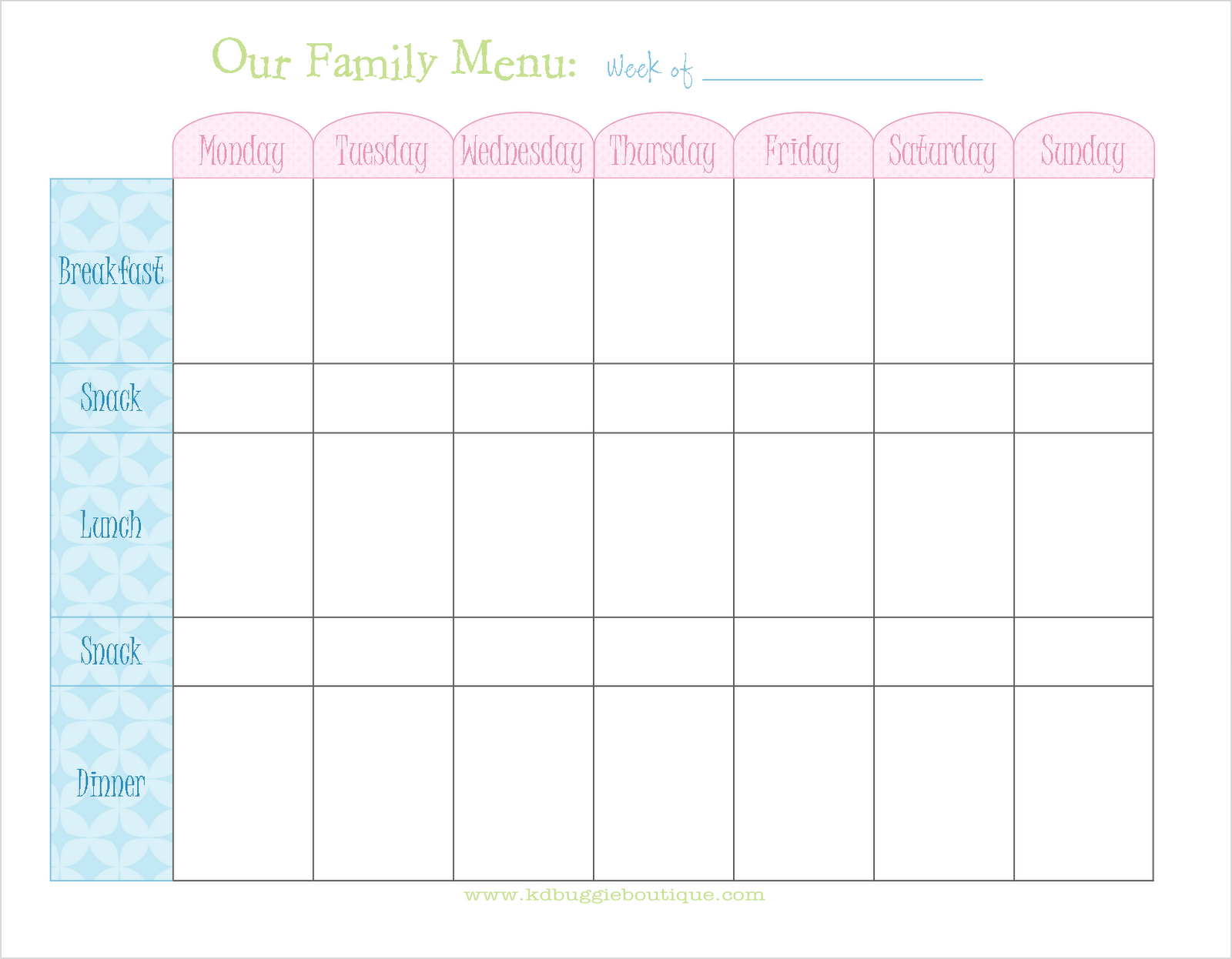The perfect menu planner for when you arent sure what to cook! This brilliant allinone menu planner is easy to use and FREE!