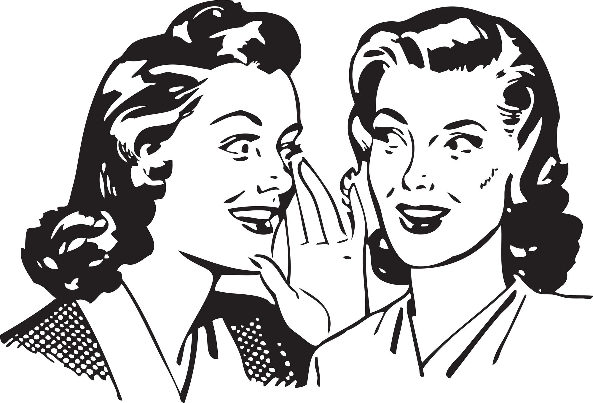 Retro-Women-Gossiping