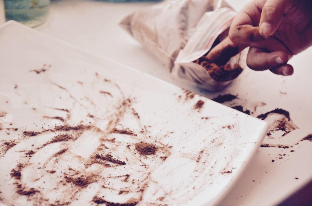 шоколадное мороженое: кэроб
