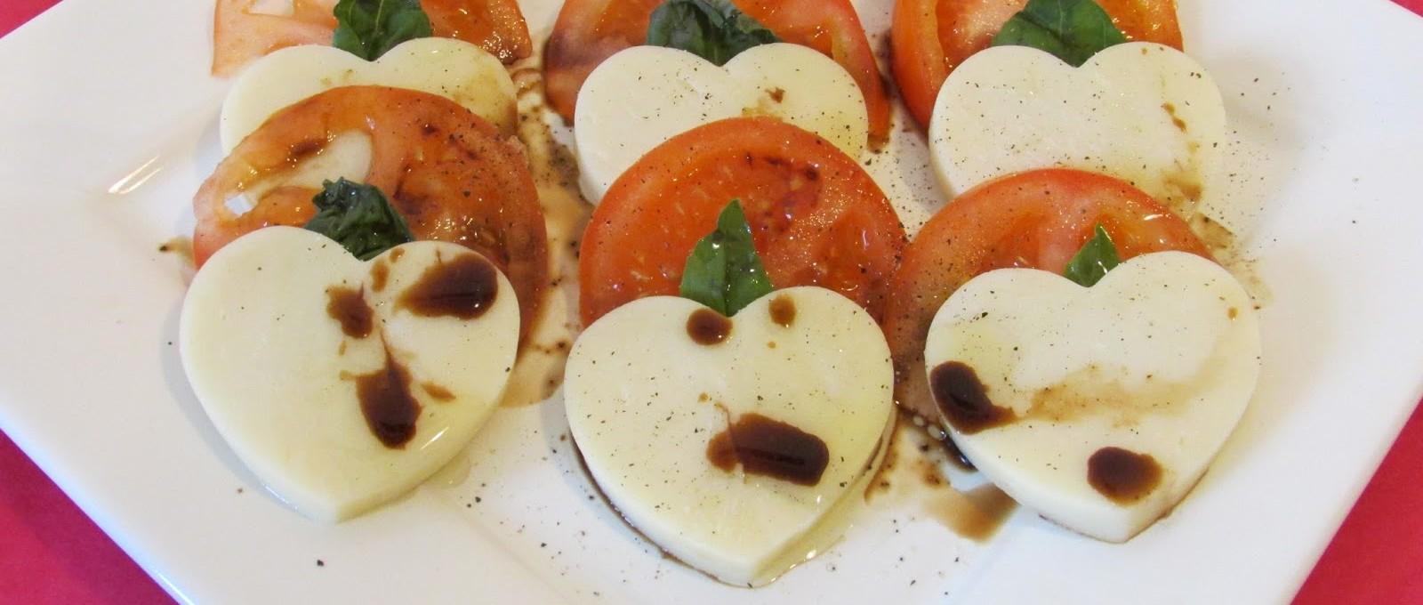 Романтический ужин: салат Капрезе