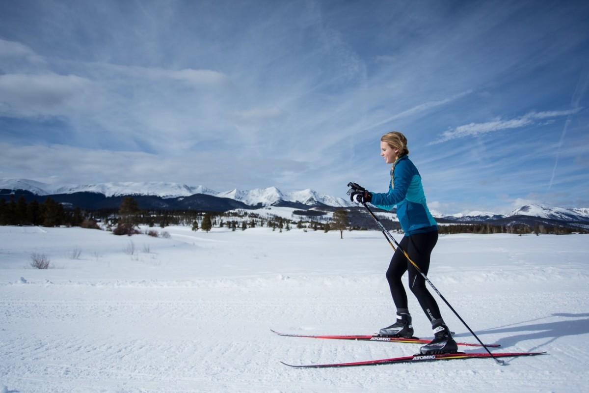 тренировки на улице: лыжи