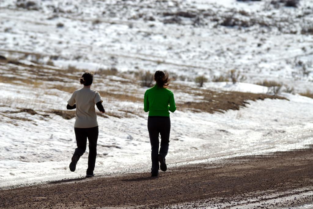 Тренировка на улице: пробежка