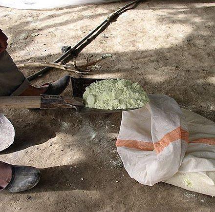 диоксид серы на лопате