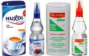 сахарозаменители синтетические