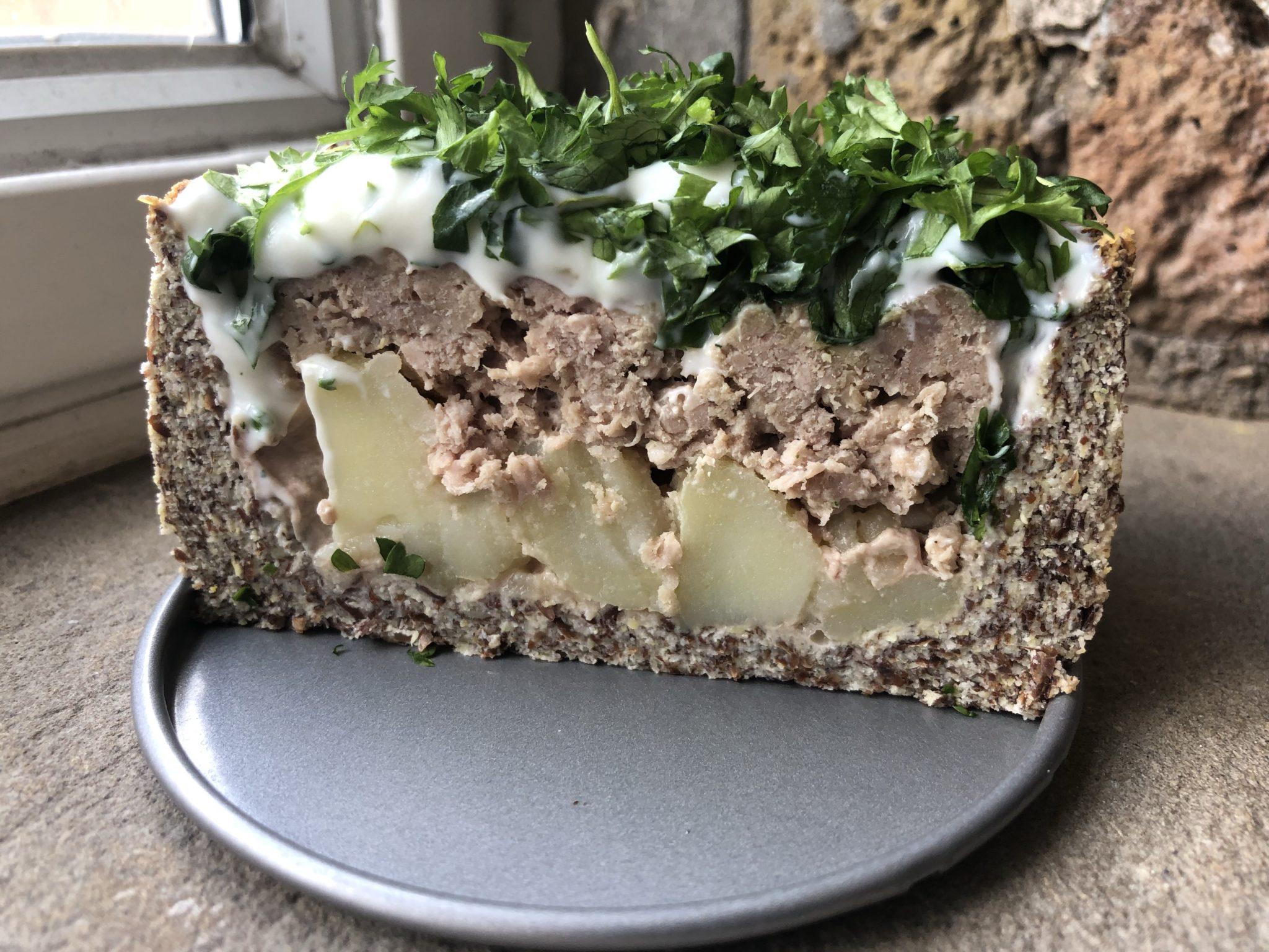 пирог с мясом и картофелем без муки